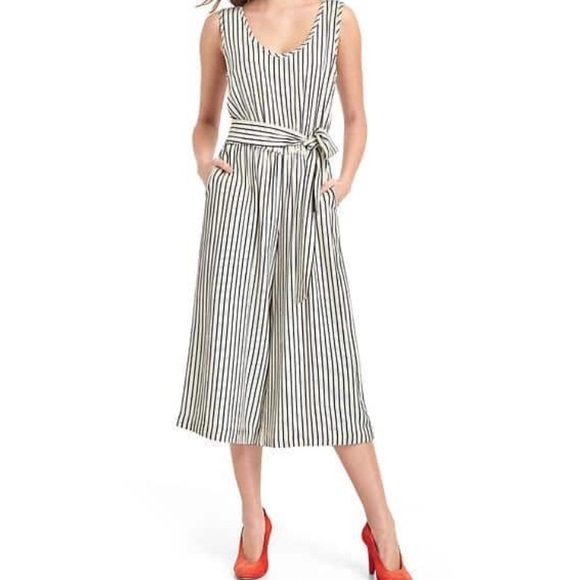 5aee4d31925 GAP Pants - Gap Striped Culotte Jumpsuit
